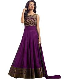 Buy Purple embroidered net salwar with dupatta pakistani-salwar-kameez online