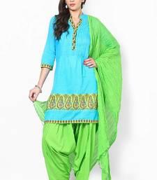 Buy Parrot Green Solid Patiala Salwar With Dupatta - PAT3 patialas-pant online