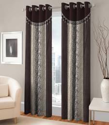 Buy Long Window Eyelet Coffee Curtain Set Of 2 curtain online
