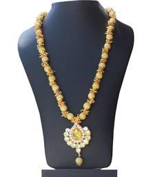Buy Yellow crystal necklaces designer-jewellery online