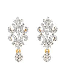 Buy Yellow metallic earrings Earring online