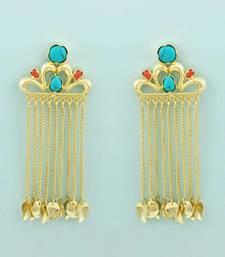 Buy Turquoise plain danglers-drops danglers-drop online