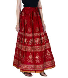 Buy multicolor Cotton free size skirts skirt online