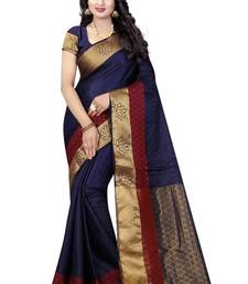 Buy Nirja Creation Blue Color Fancy Partywear Banarasi Silk saree  banarasi-silk-saree online