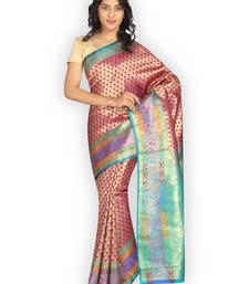 Buy Multicolor woven satin saree  Saree online