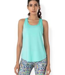 Buy Blue workout gym wear Racerback Tee workout-gym-wear online