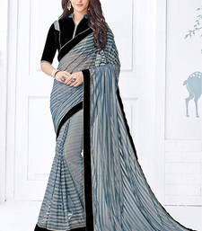 Buy multicolor printed net saree with blouse fancy-saree online