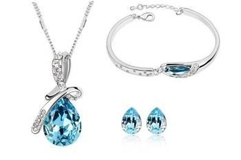 WaterDroplet Necklace Bracelet Set