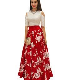 Buy red silk embroidered lehenga choli (Premium quality) lehenga-choli online