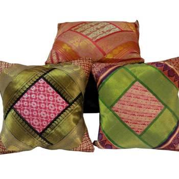 Rajasthani Brocade Design Cushion Cover Set