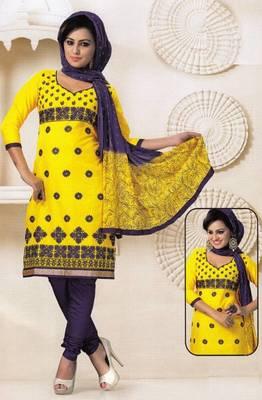 Radiant Cotton Embroidered Salwar Suit Dress Material D.NO SV1074