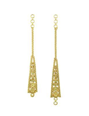 Golden traditional ear chain jewellery for women