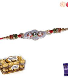 Buy Silver Rakhi with Chocolate silver-rakhi online
