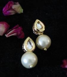 Buy White Pearl Kundan studs stud online