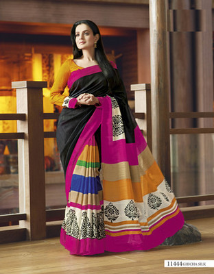Styloce Multi Color Bhagalpuri Silk Saree-STY-106-11444