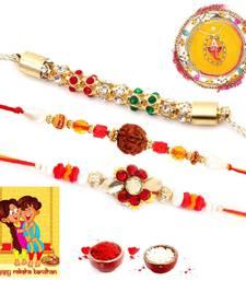 Buy Ethnic Meenakari Pooja Thali Raksha Bandhan Gift rakhi-pooja-thali online