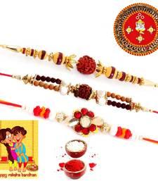 Buy Designer Meenakari Pooja Thali Rakshabandhan Gift rakhi-pooja-thali online