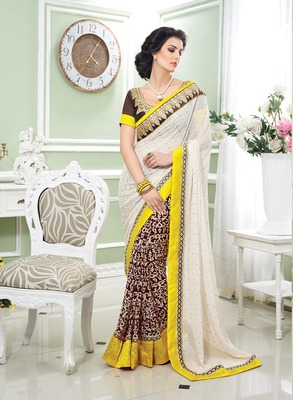 Multi Embroidery  Poly Georgette