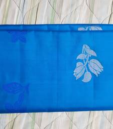 Buy Royal blue hand woven pure uppada silk saree with blouse south-indian-saree online