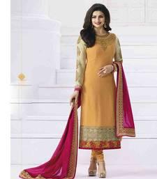 Buy Orange embroidered georgette salwar with dupatta wedding-salwar-kameez online