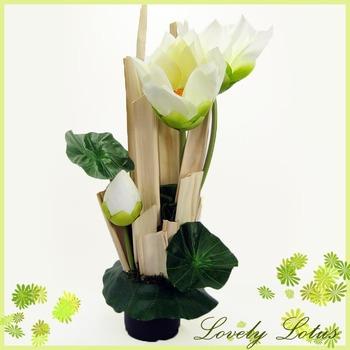 White Lotus on vase