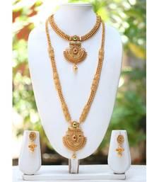 Buy Multicolor polki necklace sets necklace-set online