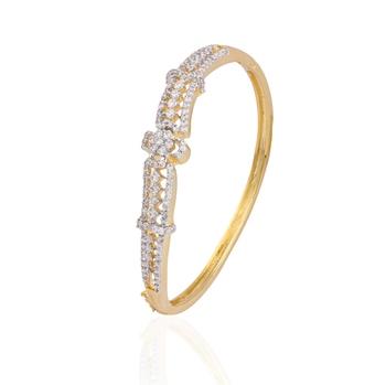 Ethnic gold plated american diamond  bracelet