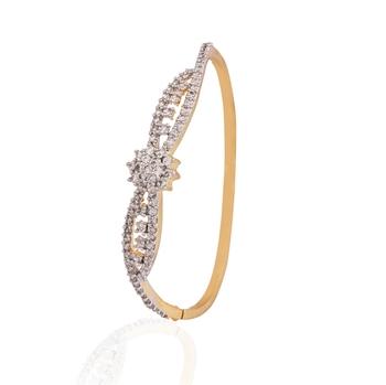 Zest gold plated american diamond  bracelet