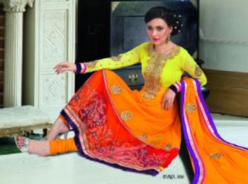 Styloce Multi Color Designer Salwar Kameez .STY-102-306