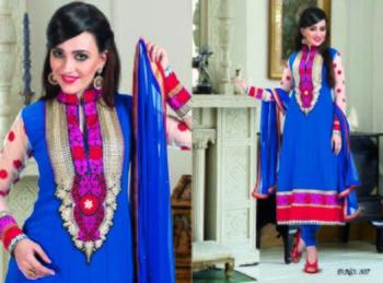 Styloce Blue Color Designer Salwar Kameez .STY-102-307