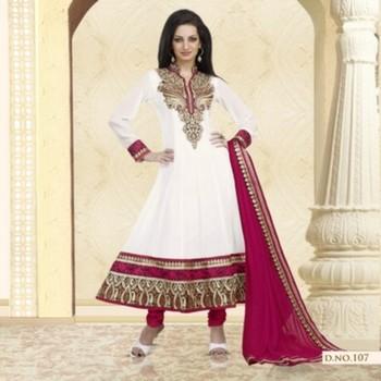 Styloce White Color Designer Salwar Kameez .STY-104-107