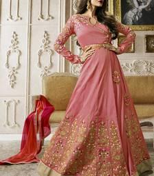 Buy Light pink multi resham work silk salwar malaika-arora-khan online
