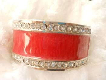 Stone Studded Red Bracelet-080139