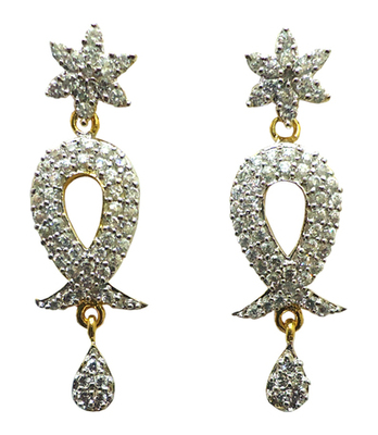 Vatika designer american diamond earring