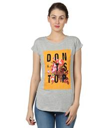 Buy Women anthra sigle jersey neps printed t shirt party-top online
