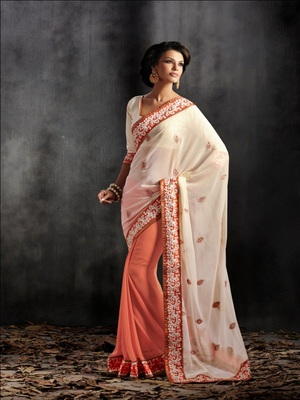 Saree with Un-Stitched Blouse