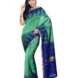 Buy Beige silk saree with blouse kanchipuram-silk-saree online