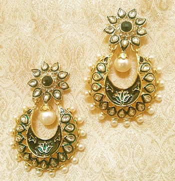 Designer Ethnic Bollywood Jhumki Jewellery Earrings Diwali,Wedding,Gift-LAE04BK