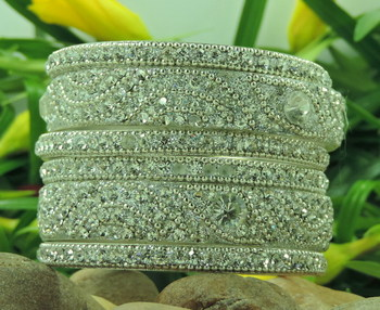 Beautiful Gift Silver Color Bangles Set For Girlfriend