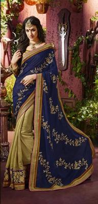 Blue Partywear Designer Georgette Saree