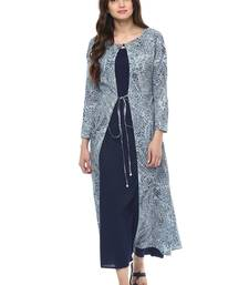 Buy Jaipur Kurti Women's Maxi Blue Dress dress online