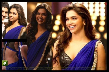 Deepika Padukone Royal Blue 60 Gram Bollywood Saree