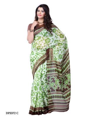 Green Color Art Silk Party Wear Fancy Saree