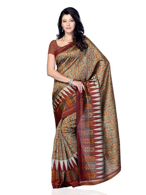 Grey And Purple Color Jacquard Party Wear Fancy Saree