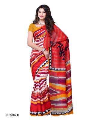 Red Color Art Silk Party Wear Fancy Saree