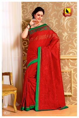 Red Partywear Designer Saree