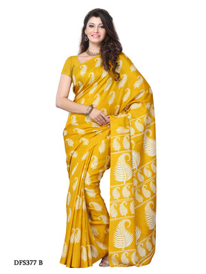Yellow Color Art Silk Party Wear Fancy Saree