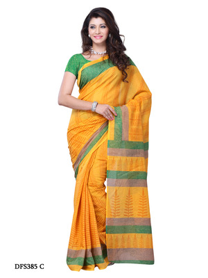 Yellow Color Art Silk Party Wear Fancy Saree