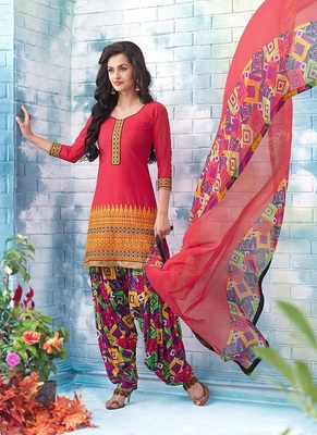 Un-Stitched Suit with Dupatta