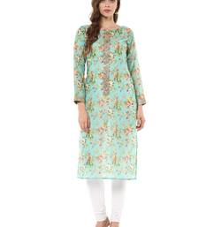 Buy Multicolor printed chanderi stitched kurtas-and-kurtis kurtas-and-kurtis online